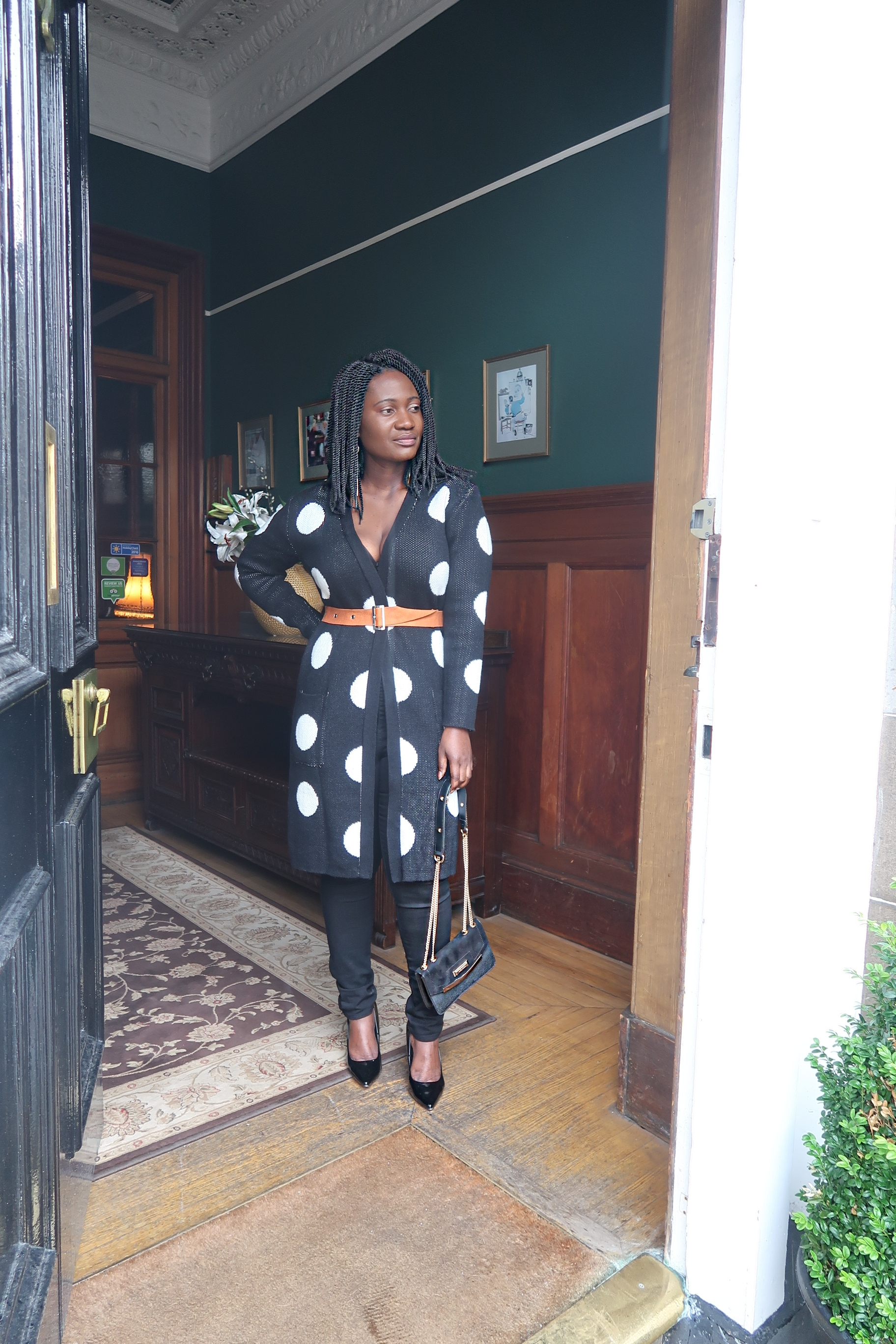 Bloggers styling polka dot trend
